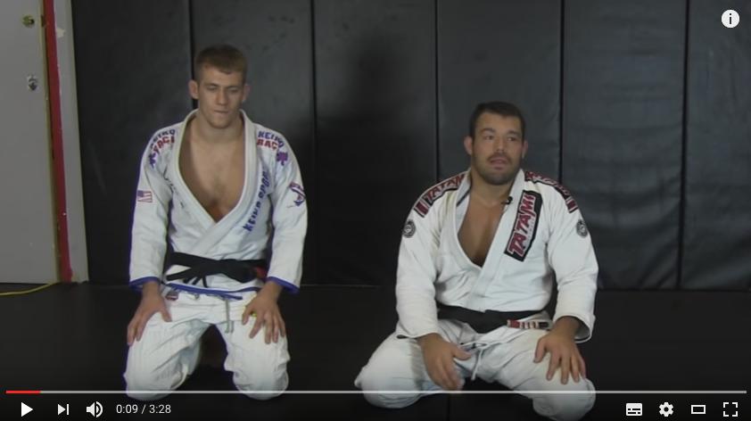 defense du triangle jiu jitsu techique
