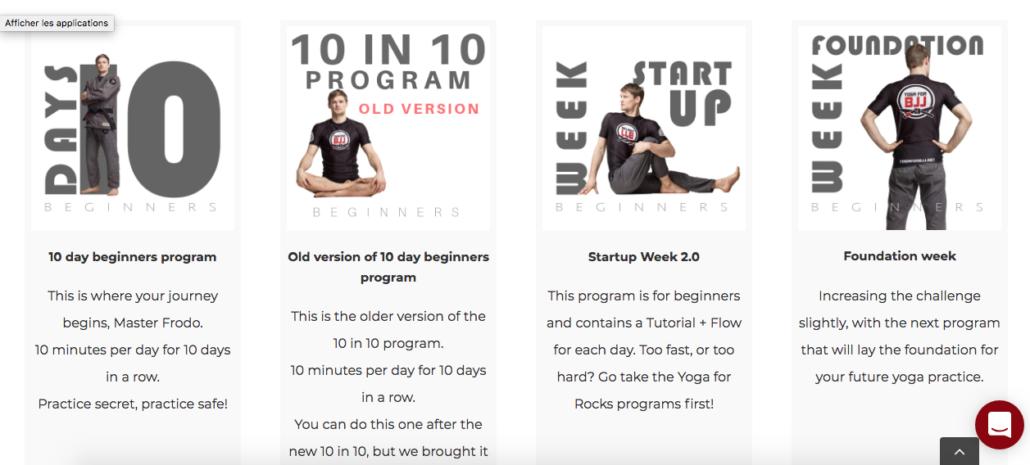 programmes yoga for bjj